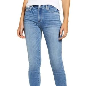 Paige Verdugo Frayed Ankle Skinny Jeans